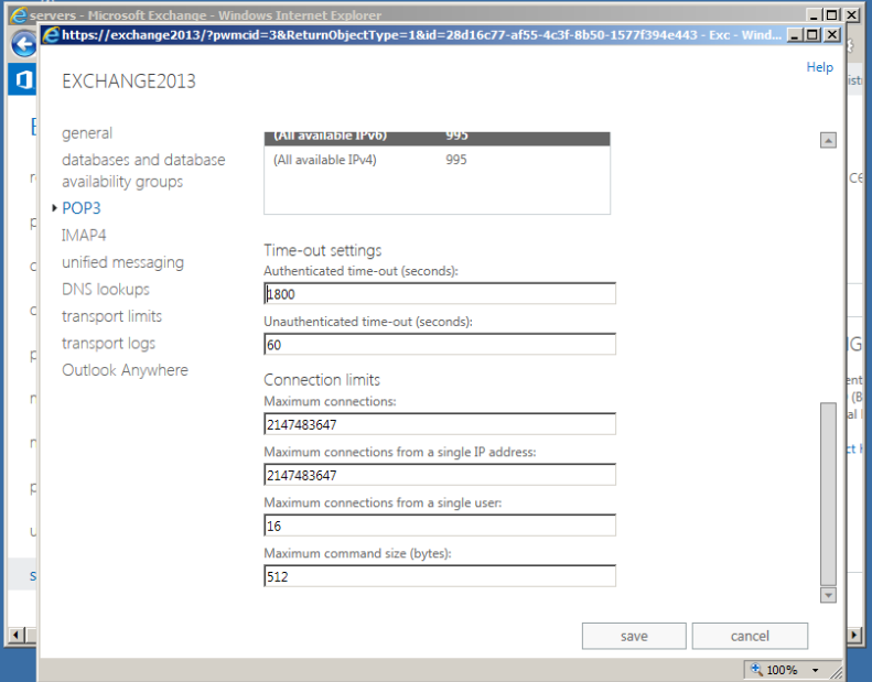 Steps To Configure Pop3 In Exchange 2013 Msexchangequery