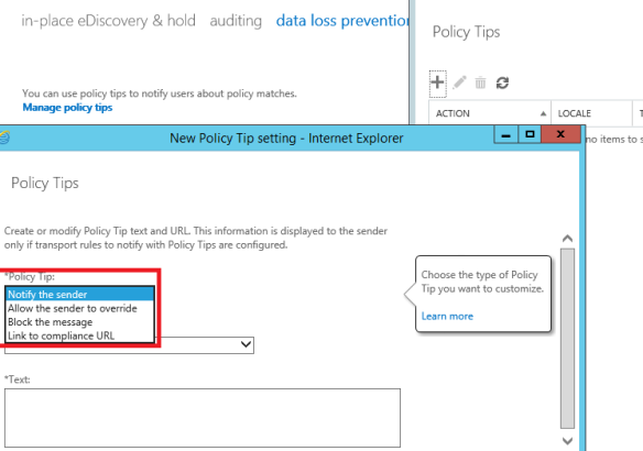 Exchange 2016 policy tips explained | EzCloudInfo