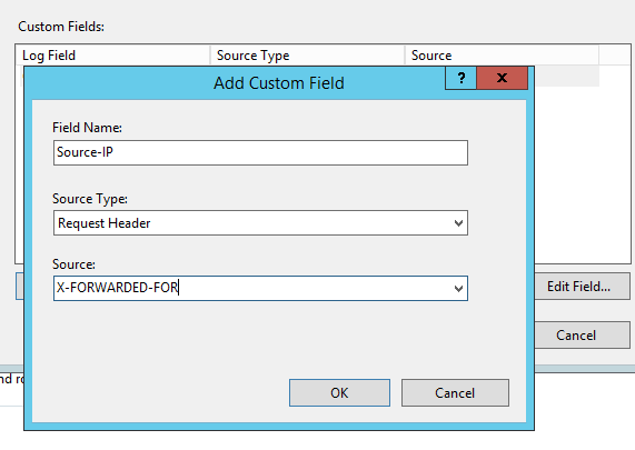 Exchange log the real client IPs in the IIS hit logs for