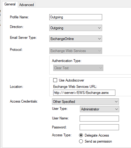 CRM Email Router Configuration in Exchange 2016 environment