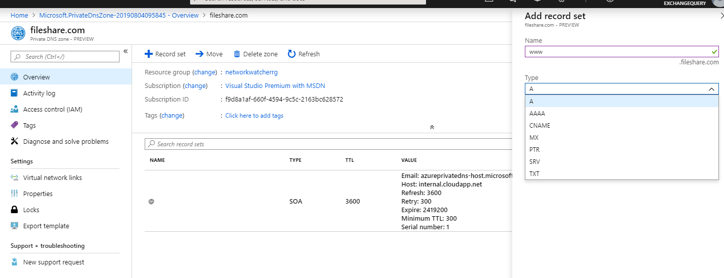 Overview of DNS services in Microsoft Azure | EzCloudInfo